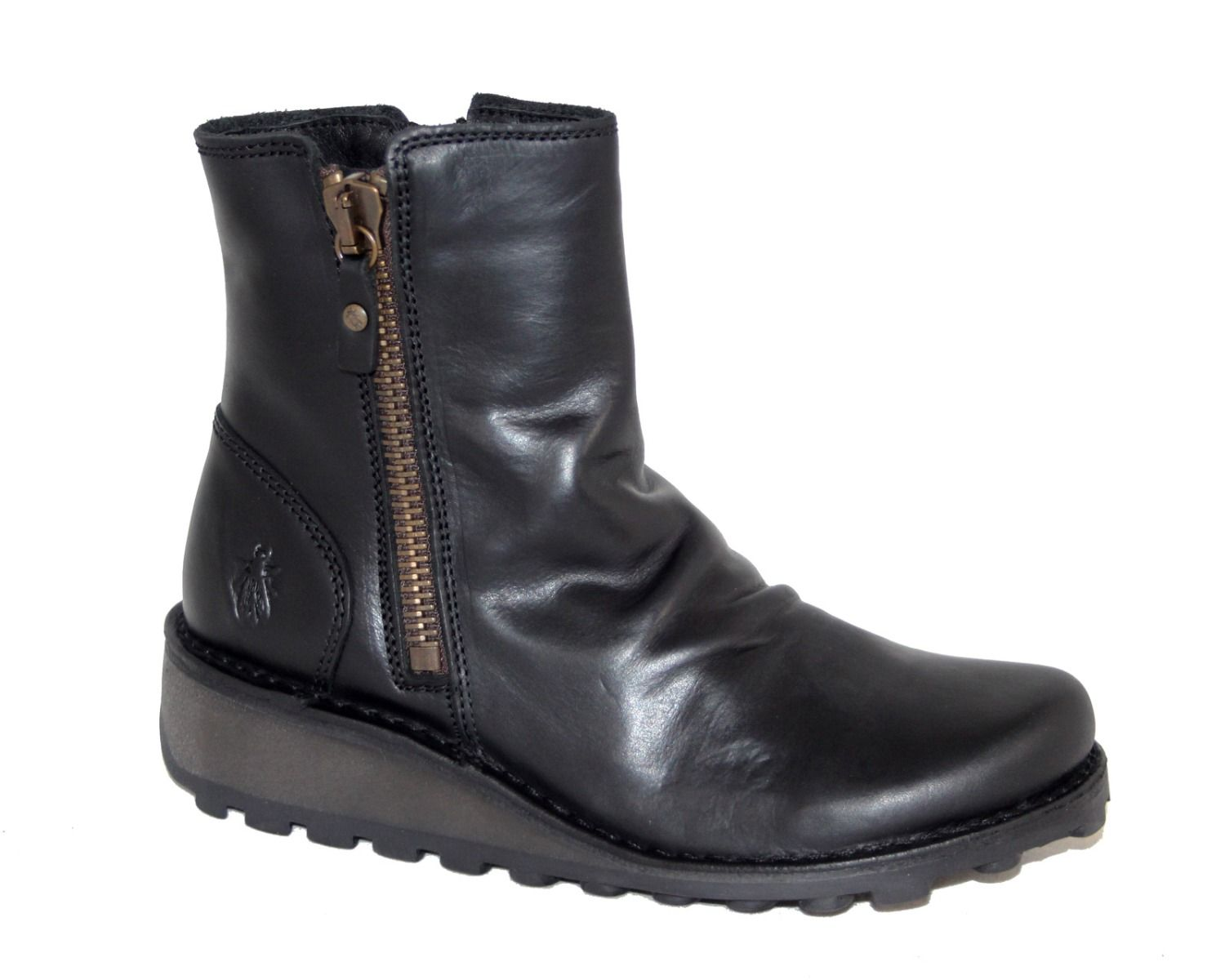Fly London Mong Rug Black Ankle Boot