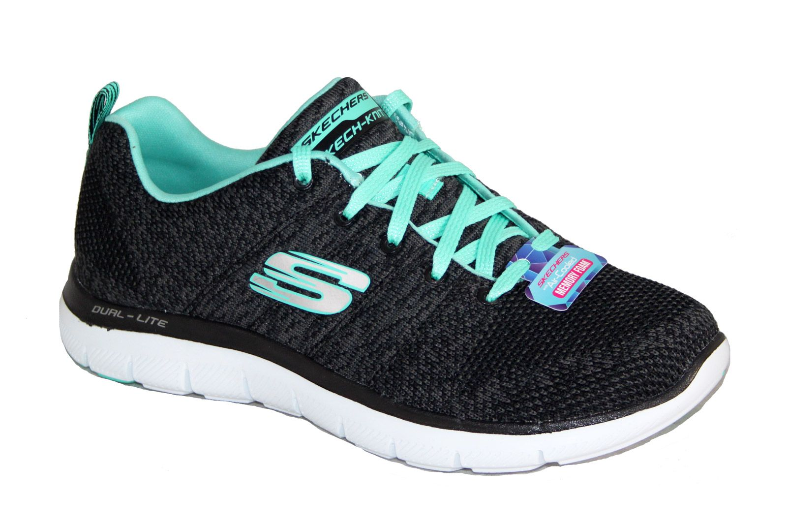 construcción flojo ciervo  Skechers 12756 Flex Appeal 2.0 High Energy Black/Aqua | Skechers - Womens |  China Blue Shoes