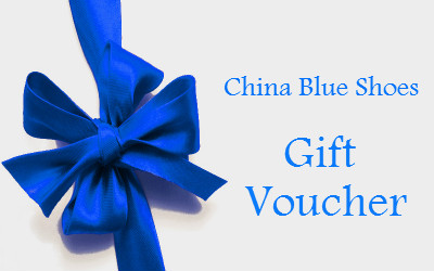 China Blue Shoes Gift Voucher